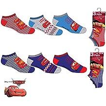 Pack 6 pares de calcetines cortos (tobilleros) 6 modelos diferentes diseño CARS (Disney-Pixar) nums. 23/26-27/30-31/34