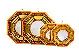 Ensemble de 4chinois Feng Shui BAGUA Miroir 10,2x 15,2cm convexe et concave...