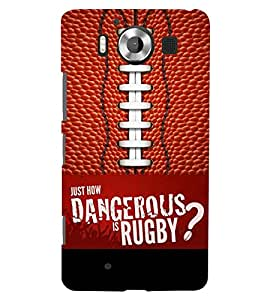 PRINTSWAG RUGBY Designer Back Cover Case for MICROSOFT LUMIA 950