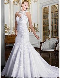 LUCKY-U Vestito da Sposa Abito da Sposa da Donna Elegante Una Linea Chiffon  Nuziale Abiti da Sposa Abito… 2f2b95ec9d4