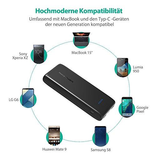 51p0HtdXuWL - [Amazon] RAVPower 22.000mAh Powerbank mit USB-C-Anschluss für 29,99 € statt 39,99€