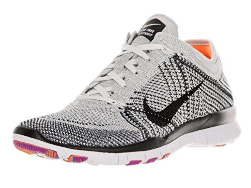 Nike Damen Wmns Free Tr Flyknit Turnschuhe Blanco (White / Black-Pr Pltnm-Hypr Vlt)
