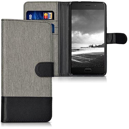 kwmobile Lenovo P2 Hülle - Kunstleder Wallet Case für Lenovo P2 mit Kartenfächern und Stand