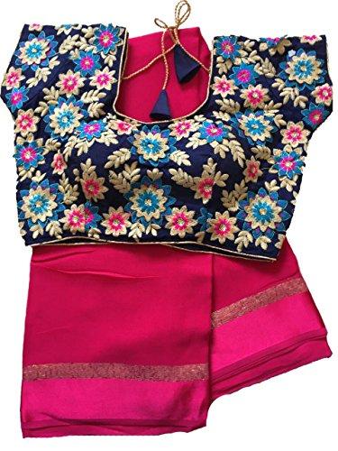 Balaji Fashion Brocade & Georgette Saree (D.No Dm24_Multi-Coloured)