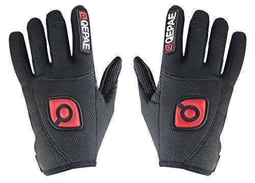 QEPAE® Rutschfeste Gel Polster Fahrrad Handschuhe Herren Damen mit dem Klettverschluss geeignet für Fahrrad Reiten Radsport Camping und mehr Sports im Freien - 3
