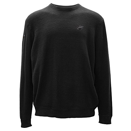 Levelwear LEY9R NHL Muskoka Crew Optik Crest Crewneck Pullover, Herren, Muskoka Crew Optic Crest Crewneck Sweater, schwarz, X-Large (Hockey Crewnecks)