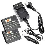 DSTE 2-pacco Ricambio Batteria + DC52E Caricabatteria per Kodak KLIC-7001EcomeYSHARE M1063M1073IS M320M340M341M753Zoom M763M853Zoom EcomeyShare M863 M893IS EcomeyShare V550V570V610V705