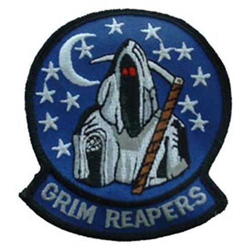 U.S. Navy Grim Reapers Patch Blue & White 3 by (Punti Grim)
