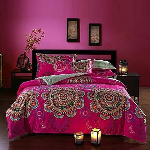 beddingleer 100% algodón ropa de cama moderna conjuntos de estilo Boho fundas de edredón King Size conjuntos de ropa de cama queen king size boho ropa de cama 4piezas, elegante Floral país europeo