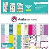 Kit papeles y accesorios scrap Mosaico Anita