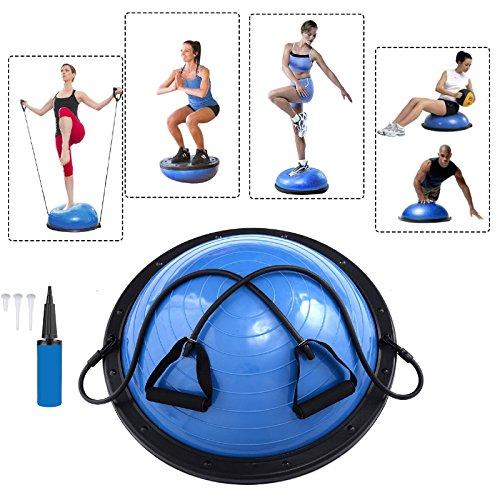 Baumarktplus Yoga Gymnastik Balance Half Ball Trainingsball Pink Blau Lila (Blau)