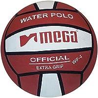 Balón Polo de Agua. Mega. Diseño de Color Rojo y Blanco. Tamaño 4
