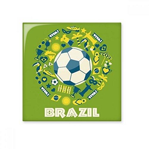 DIYthinker Fußball-Jersey-Trophy Viva Slogan Parrot Brasilien Kultur Element Keramik Bisque Fliesen für Dekorieren Badezimmer-Dekor Küche Keramische Fliesen Wandfliesen S