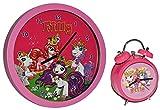 2 tlg. Set: Wecker + Wanduhr Filly Pferde - Kinderzimmer Einhorn Kinderuhr - analog Pferd Unicorn Einhorn Mädchen Magic Magicart Prinzessin