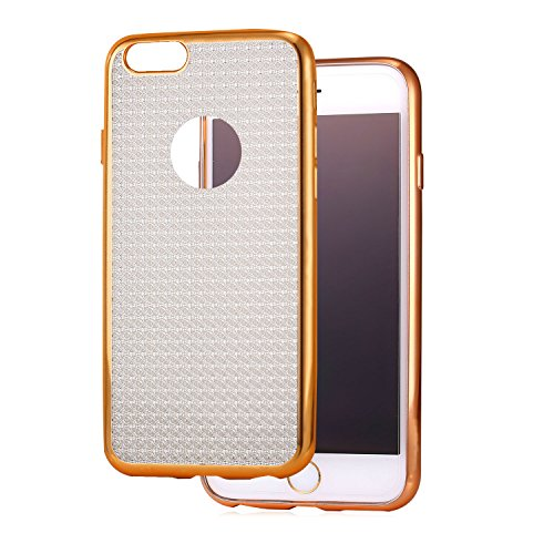 iPhone 6/6s Case, Bandmax Sparkle Rose Gold Plated Environmental TPU Case Lightweight Back Bumper Covers for iPhone 6/6s Anti-Scratch/Drop Protection/Shock-Absorption (Rose Gold)