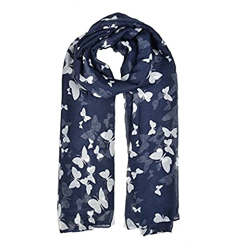 Access - Echarpe - Femme Navy ( Butterfly Pattern) taille unique
