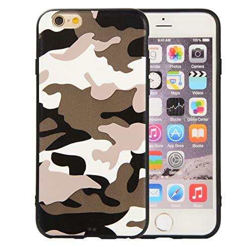 Yutwo Cover iPhone 6/ 6S Custodia, Custodia Heavy Duty Militare in TPU Camouflage Design Cover Slim Fit TPU Gel Morbida Custodia per iPhone 6/ 6S - A#Bianco