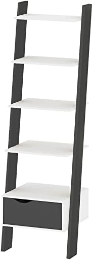 Tvilum Oslo Book Case, White/Matte Black, 75385