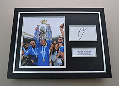 Up North Memorabilia Riyad Mahrez Signed Photo Framed 16x12 Leicester City Autograph Display + COA