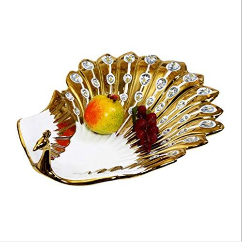 astorale Keramik Obstteller Pfau Obst Einrichtungsgegenstände Wohnzimmer Couchtisch Obstteller Kreative Praktische Ornamente ()