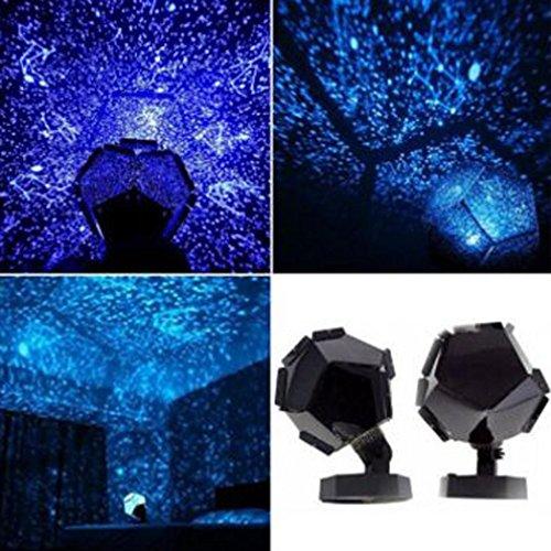 Xinan LED Lichtleiste Blau Himmels Licht Nacht Lampe Lights Projektor Sterne Wolken (ABS + PC, Blue) -