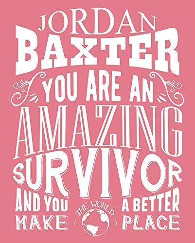 ld Metal Tin Sign Aluminum You Are an Amazing Survivor Gift for Women Breast Cancer Awareness Fighter Award 8 X 12 Inch ()