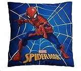 KISENE' Disney Marvel Cuscino Decorativo per Arredo con Disegno Spiderman Misura 40 x 40 Centimetri