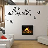 Asmi Collections Pvc Wall Stickers Black...