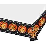 66-teiliges Partyset * Perfect Pumpkin * Halloween // mit Teller + Becher + Servietten + Tischdecke + Vorhang + Konfetti…