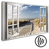 murando - Akustikbild Fensterblick 120x80 cm - Wandbilder - Schallschutz - Leinwand - Akustikdämmung - 1 Teilig - Wandbilder XXL - Schallschlucker - Wandbild - leise - c-C-0179-ah-a