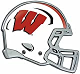 Wisconsin Badgers Auto Emblem - Helmet by Stockdale Technologies