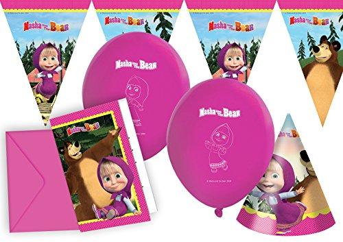 Ciao Y2511–Kit de accesorios para fiesta Masha y el oso