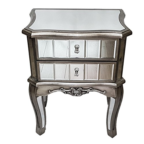 Slate & rose antique french style a specchio comodino