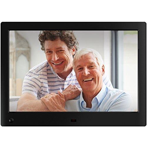 Nix Advance - 10 Zoll Widescreen Digitaler Bilderrahmen für Fotos und HD-Video (720p) mit Bewegungs-Sensor, für SD und USB, Schwarz - X10H