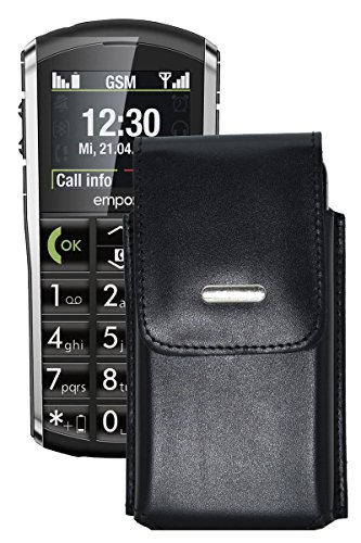 Vertikal Etui für / Emporia PURE / Köcher Tasche Hülle Ledertasche Vertical Case Handytasche mit einer Gürtelschlaufe auf der Rückseite
