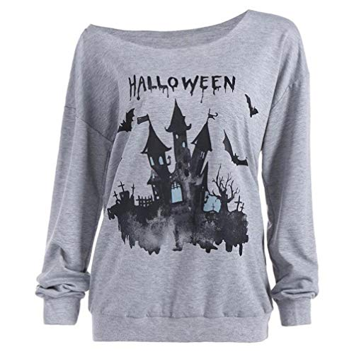 VEMOW Herbst Winter Damen Plus Size Langarm Halloween -