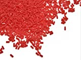 The Design Cart Opaque Orange Pipe/Bugle Beads/Glass Seed Beads (4.5 mm) (100 Grams) Standard Quality, for – Jewellery Making, Beading, Arts and Crafts and Embroidery.