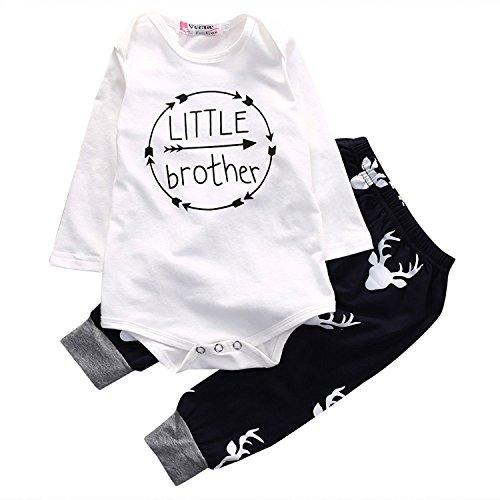 erthome Baby Kleidung Kind Baby Jungen Tops Romper Weste Hosen 3Pcs Outfits Kleidung Set
