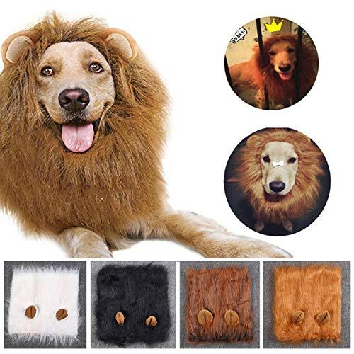 kostüm Löwenmähne Perücke für Hunde, Halloween, Stoff, Festival, Kostüm ()