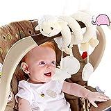 HENGSONG Kleinkindspielzeug Plüschtiere Kinderwagenkette Hängende Sprach Musik Spielzeug Mobile Schaf