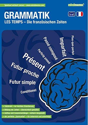 mindmemo Lernfolder - Les temps - Die französischen Zeiten Grammatik lernen für Kinder Erwachsene Lernhilfe kompakt Zusammenfassung PremiumEdition foliert DIN A4 6 Seiten Abhefter