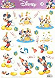 10 x Disney 3D Step By Step Decoupage - Mickey Mouse and Friends Birthday Fun 13