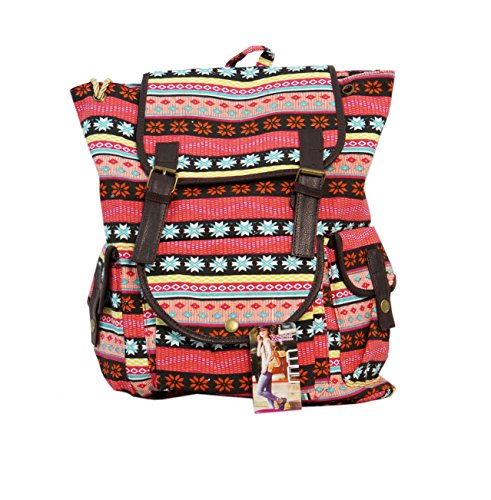 Valentine day gift for her, Women's Backpack Multicolor (orangemultiprint)