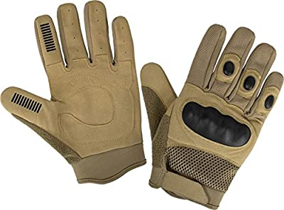 Tactical Paintball Handschuhe mit Knöchelschutz und Wildlederbesatz