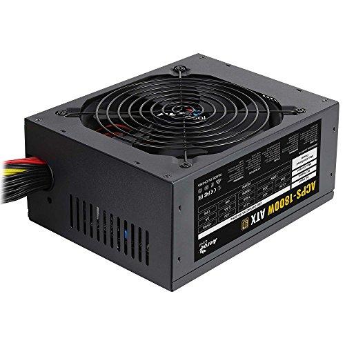 Aerocool ACPS 1800 W - Alimentation électrique pour PC minière, Noir