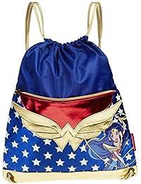 Karactermania DC Super Hero Girls Wonder Woman Bolsa de Cuerdas para El Gimnasio, 41 cm, Azul
