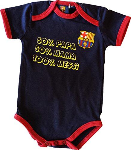 Body bébé garçon Barça - Lionel MESSI - Collection officielle FC BARCELONE