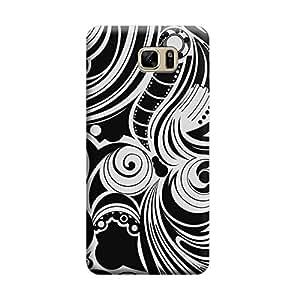 Desicase Samsung Note 7 Swirl Art 3D Matte Finishing Printed Designer Hard Back Case Cover (White)