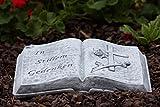 """Grabschmuck Steinguss Buch """"In stillem Gedenken"""", frost- und wetterfest"""