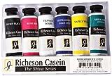 Jack Richeson 37-ml Künstler Casein Farben, Set von 6